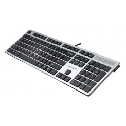 Keyboard A4TECH KD-300 USB Silver Gray X-Slim