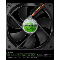 Green ultra silent fan GF-120