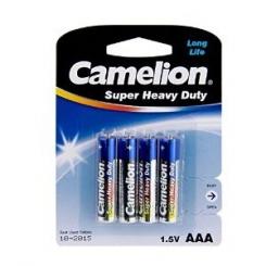 باتری نیم قلمی آبی کارتنی 4 عددی کملیون
