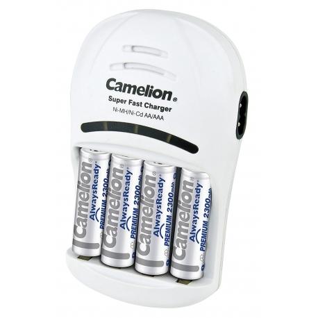 شارژر باتری کملیون همراه با 4 عدد باتری قابل شارژ 2300 میلی آمپر