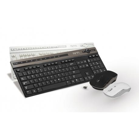 کیبورد و ماوس وایرلس TKM 7106 سفید بی سیم تسکو Tsco Keyboard + Mouse TKM 7106 Wireless White