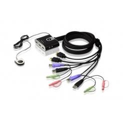 کی وی ام سوییچ 2 پورت USB HDMI/Audio مدل CS692 آتن Aten
