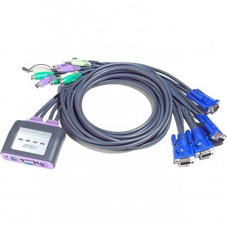 کی وی ام سوییچ 4 پورت PS/2 VGA/Audio مدل CS64A آتن Aten