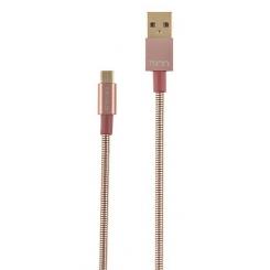کابل تبديل USB به microUSB تسکو مدل TC 62 طول 1 متر - صورتی