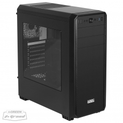 Green Z Plus GRAND Computer Case - Black