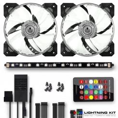 کیت RGB نورپردازی داخل سیستم )شامل 2 عدد فن و 1 عدد نوار گرین