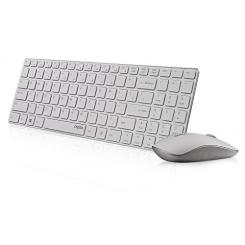 کیبورد و ماوس (دسکتاپ) بی سیم (وایرلس) رپو مدل ای 9300 پی سفید Rapoo E9300P Wireless Keyboard and Mouse - White