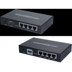 اکستندر / افزایش HDMI برروی تک کابل CAT5e/6 برد 120 مترlenkeng مدلLKV374