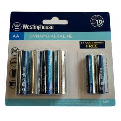 باتری قلمی 4 عددی آلکالاین + 2 عدد باتری نیم قلمی رایگان وستينگ هاوس