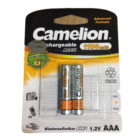 باتری قابل شارژ نیم قلمی 1100 میلی آمپر کملیون (بدون شارژ اولیه)