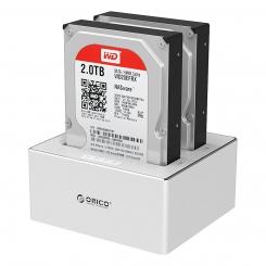 داک هارد و SSD آلومینیومی دو تایی ORICO 6828US3-C