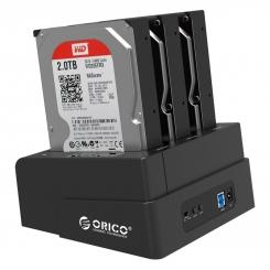 داک SSD و هارد 2.5 و 3.5 اینچ ORICO 6638US3-c 3Bay