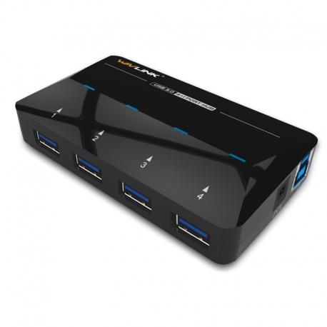 هاب USB3.0 چهار پورت با آداپتور WL-UH3042P1 ویولینک