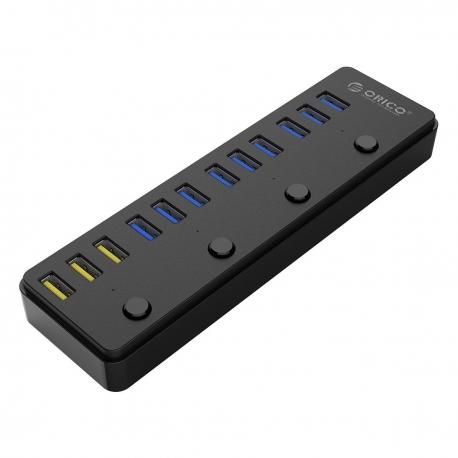 هاب USB3.0 با شارژر ORICO P12-U3