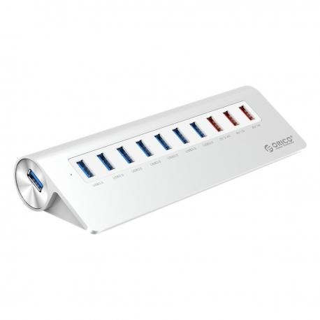 هاب ۱۰ پورت فلزی USB 3.0 با ۳ پورت شارژ ORICO M3H73P