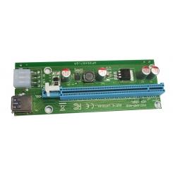 رایزر تبدیل PCIe 1X به 16X با رابط کابل USB 3.0 برند Riser مدل 006