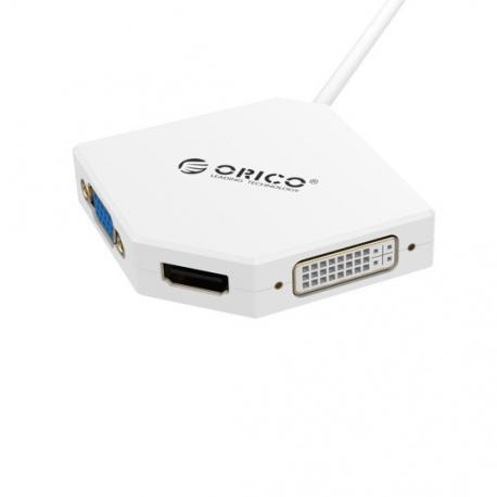 تبدیل Mini Display Port به VGA – HDMI – DVI اوریکو ORICO DMP-HDV3