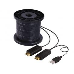 کابل HDMI افزایش روی بستر فیبر نوری 100 متر