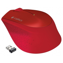 Logitech M330 Wireless Mouse - Red