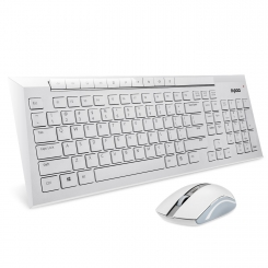 Rapoo 8200 Wireless Optical Combo White