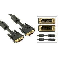 کابل DVI-I فرانت دو سر نر 5+24 پین 1.5 متر