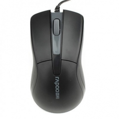 Rapoo USB Wired Mouse Black -N1162