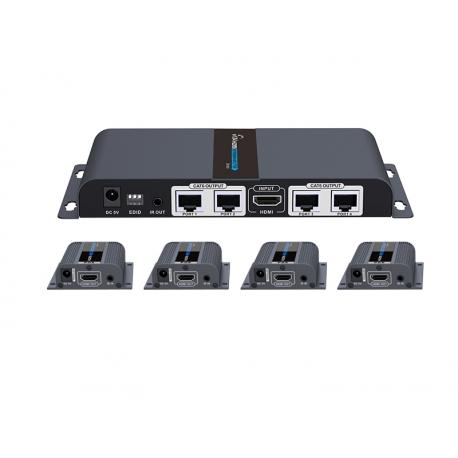 توسعه دهنده و تکرارکننده 1به 4 HDMI لنکنگ LKV714PRO