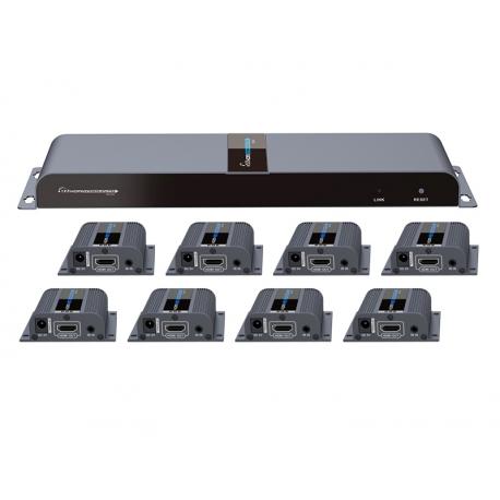توسعه دهنده و تکرارکننده 1به 8 HDMI لنکنگ LKV718PRO