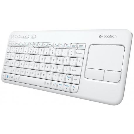 کیبورد بی سیم لمسی لاجیتک K400 سفید
