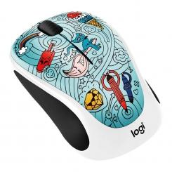 Logitech M238 Doodle BEE BEE BLUE Wireless Mouse