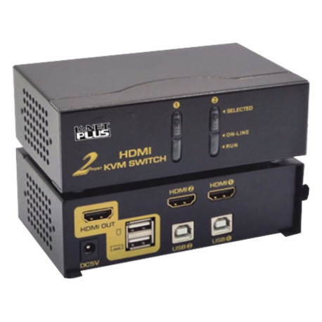 KVM سوئیچ 2 پورت HDMI برند Knet Plus