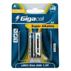 باتری نیم قلمی گیگاسل مدل Super Alkaline - بسته 2 عددی