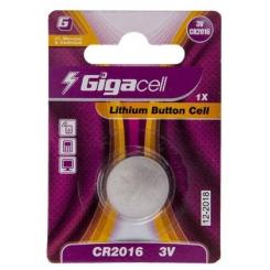 باتری سکه ای لیتیومی گیگاسل مدل CR2016 بسته 1 عددی