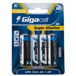 باتری قلمی گیگاسل مدل Super Alkaline بسته 4 عددی