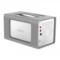 ذخیره ساز ۴Bay با Raid و محافظ سیلیکونی ORICO RS400RC3