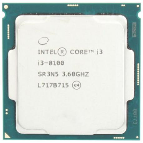 Intel Core i3-8100 CPU TRAY - طلق و فن / بدون باکس
