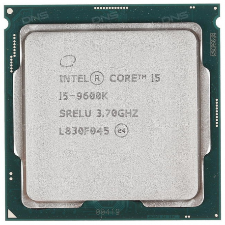 Intel Core i5-9600K CoffeeLake 9th Gen Tray -طلق و فن / بدون باکس
