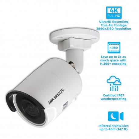 دوربین تحت شبکه بولت هایک ویژن مدل DS-2CD2083G0-I