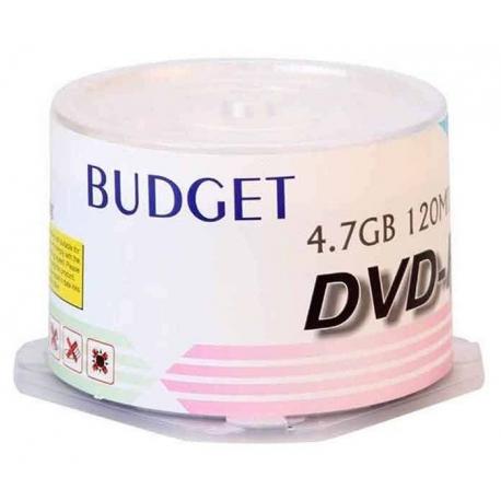 دی وی دی خام باجت BUDGET مدل DVD-R بسته 50 عددی