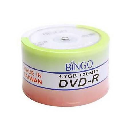دی وی دی خام بینگو Bingo بسته 50 عددی قرمز