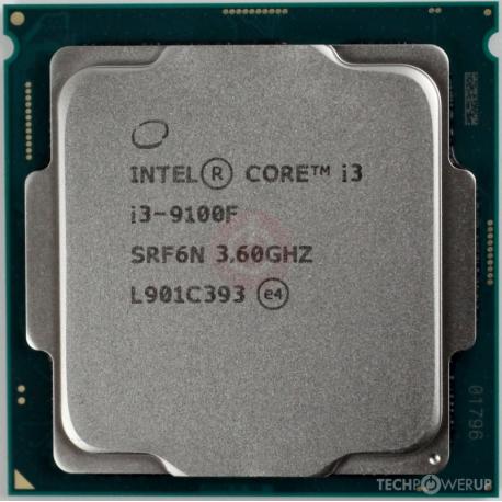 سی پی یو بدون باکس اینتل مدل Intel Core i3 9100F