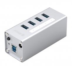 هاب فلزی 4 پورت USB3.0 آداپتوری ORICO A3H4-U3-V2