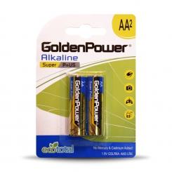 باتری قلمی سوپر آلکالاین گلدن پاور - پک 2 عددی