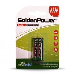 باتری نیم قلمی سوپر هوی دیوتی گلدن پاور (کربنی) - پک 2 عددی