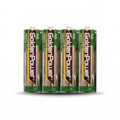 باتری قلمی گلدن پاور - کربنی شرینگ - پک 4 عددی
