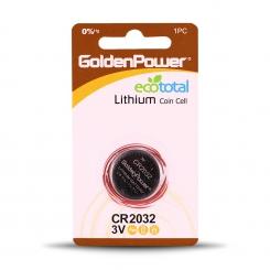 باتری سکه ای 2032 گلدن پاور - پک 1 عددی