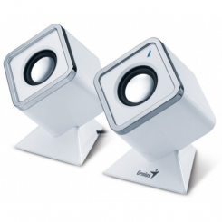 Genius SP-D120 White Cubed Stereo Speakers