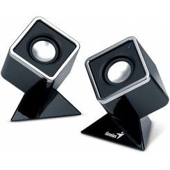 Genius SP-D150 Black Cubed Stereo Speakers