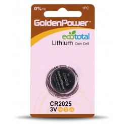 باتری سکه ای 2025 گلدن پاور - پک 1 عددی