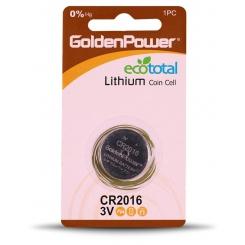 باتری سکه ای 2016 گلدن پاور - پک 1 عددی